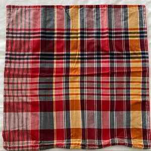 """Pottery Barn plaid pillow cover 24""""x24"""""""